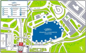 Prague Congress Centre exterior MAP