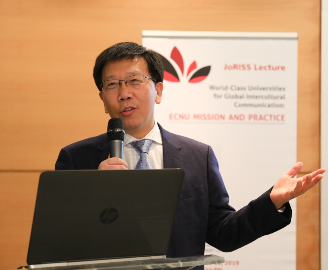QIAN Xuhong speaking at the JoRISS conference