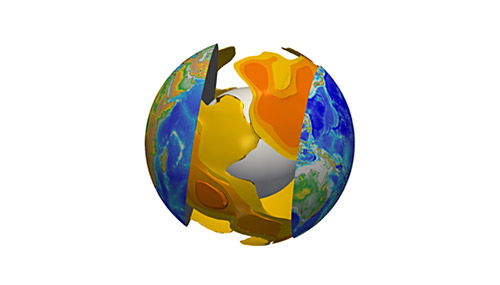 Three-dimensional visualisation of partial melting at the base of tectonic plates