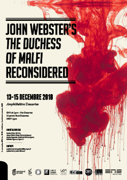 Affiche colloque John Webster