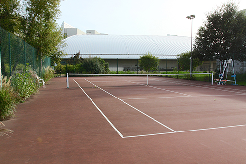 Photo du court de tennis