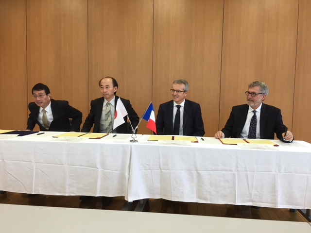 Signature de l'accord avec l'IMUST - octobre 2016